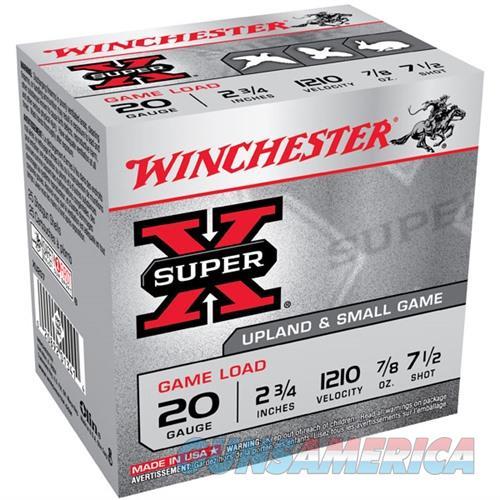 Winchester Super-X Game Load 20ga 2.75'' 7/8oz #7.5 25/bx  Non-Guns > Ammunition