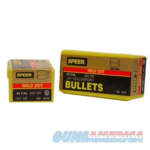 Speer Bullet .451 200gr GDHP  Non-Guns > Reloading > Components > Bullets