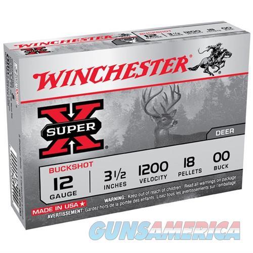 Winchester Super-X 12ga 3.5'' 18 Pellets #00 5/bx  Non-Guns > Ammunition