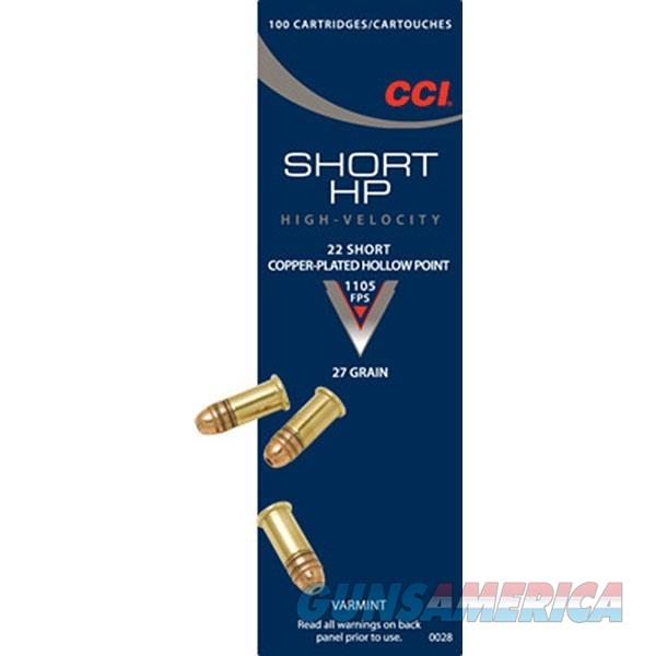 CCI Ammo 22 Short 27gr HP  Non-Guns > Ammunition