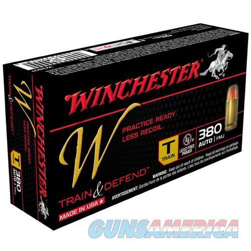 Winchester W Train & Defend 380 ACP FMJ 50/bx  Non-Guns > Ammunition
