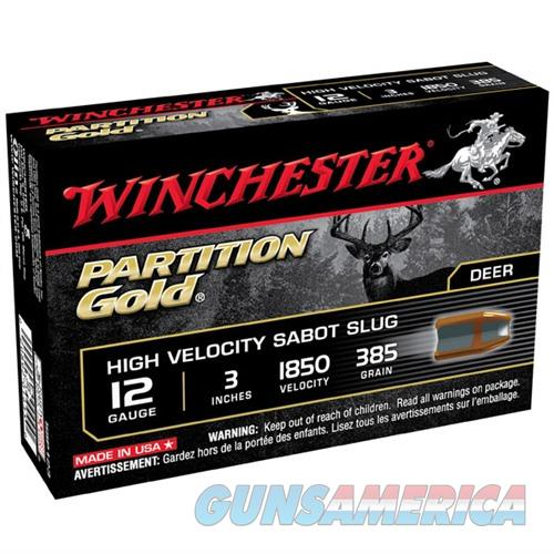 Winchester Partition Gold 12ga 3'' 385gr Sabot Slug 5/bx  Non-Guns > AirSoft > Ammo