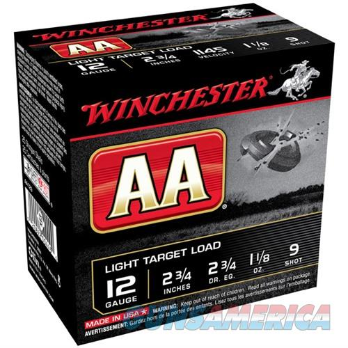 Winchester AA Light Target 12ga 2.75'' 1-1/8 oz. #9 25/bx  Non-Guns > Ammunition