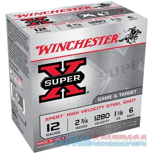 WINCHESTER SUPER-X XPERT HV STEEL 12GAUGE 2.75' 1-1/8OZ #6 25/BX  Non-Guns > Ammunition