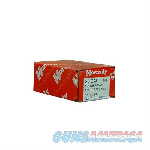 Hornady 30 CAL .308 155 GR A-MAX  Non-Guns > Reloading > Components > Bullets