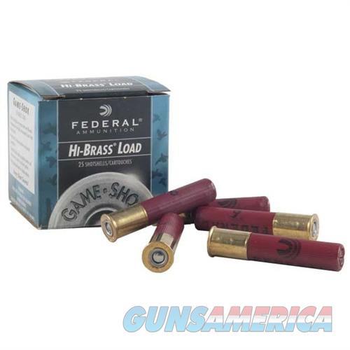 Federal Game Shok Hi Brass 410 3'' 11/16oz #4 25/bx  Non-Guns > Ammunition