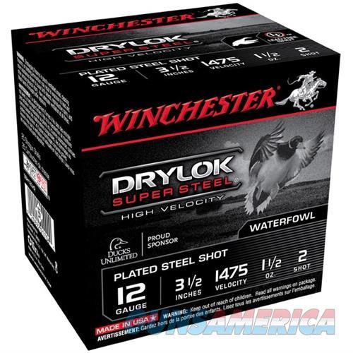 WINCHESTER DRYLOK SUPER STEEL HV 12GAUGE 3.5' 1-1/2OZ #2 25/BX (2  Non-Guns > Ammunition