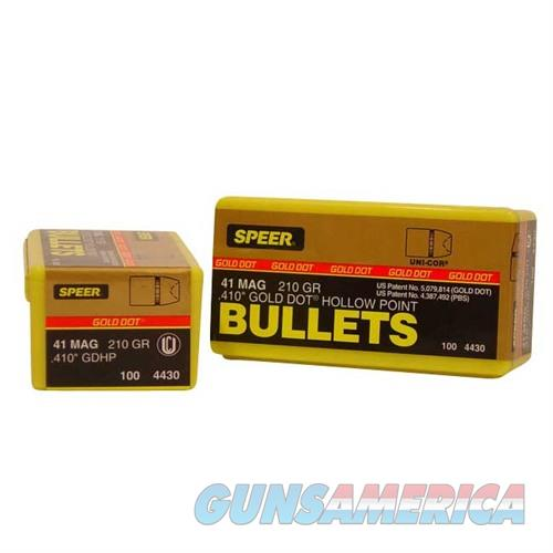 Speer Bullet 41 Caliber(.410in) 410-210 GR GDHP  Non-Guns > Reloading > Components > Bullets