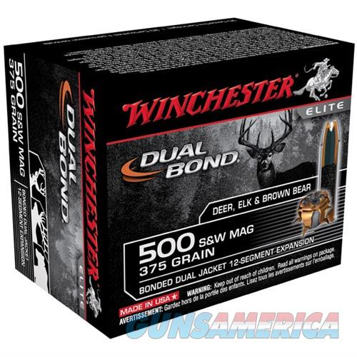 Winchester Dual Bond 500 S&W 375gr 20/bx  Non-Guns > Ammunition