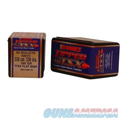 Barnes Bullet 338cal .338 160gr Tipped TSXBT  Non-Guns > Reloading > Components > Bullets
