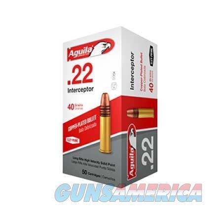AGUILA 22LR INTERCEPTOR SP 40GR 50/BOX  Non-Guns > Ammunition