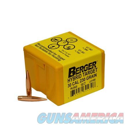 Berger Match Grade Hybrid Target 30 Cal 230gr 100/bx  Non-Guns > Reloading > Components > Bullets