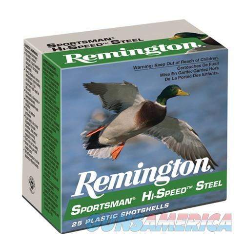 Remington Sportsman Hi-Speed Steel 12ga 3'' 1-1/8oz #4 25/bx  Non-Guns > Ammunition