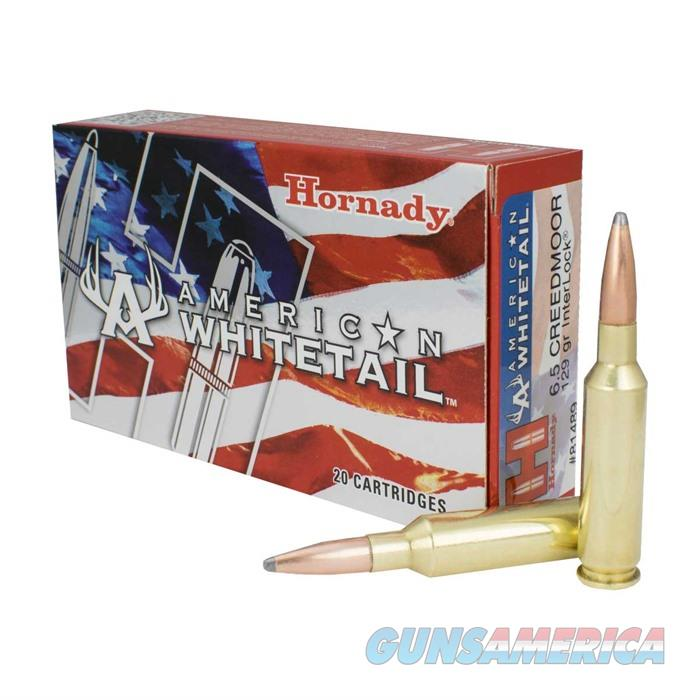 Hornady Ammo American WhiteTail 6.5Creedmoor 129gr Interlock 20Rd  Non-Guns > Ammunition