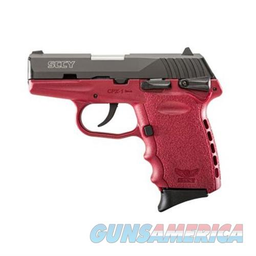 SCCY CPX-1 CBCR 9MM BLACK/CRIMSON (DOUBLE SIDED SAFETY)  Guns > Pistols > SCCY Pistols > CPX1