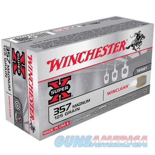 Winchester Super-X Winclean 357 Mag 125gr 50/bx  Non-Guns > Ammunition