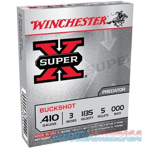 Winchester Super-X 410ga 3'' 5 Pellets #000 5/bx  Non-Guns > Ammunition