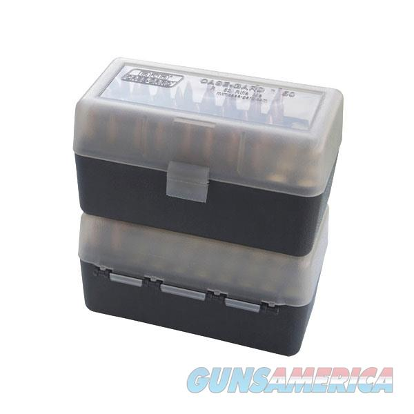 Ammo Box 50rd Flip-Top 223 204 Ruger 6x47 Clear/Smoke  Non-Guns > Military > Cases/Trunks