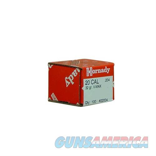 Hornady 20 Cal .204 32gr V-Max 100/bx  Non-Guns > Reloading > Components > Bullets