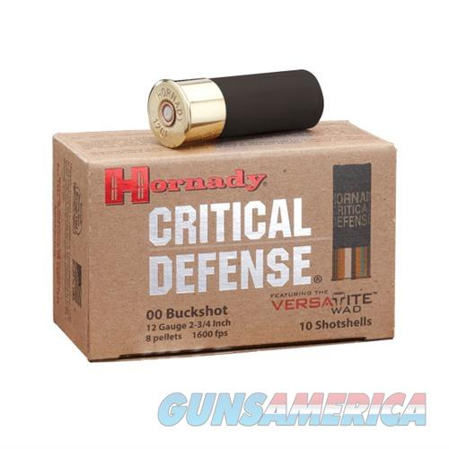 Hornady 12ga Critical Defense 00 Buckshot 5/bx  Non-Guns > Ammunition
