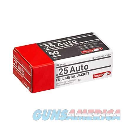 AGUILA 25 AUTO FMJ 50GR 50/BOX  Non-Guns > Ammunition