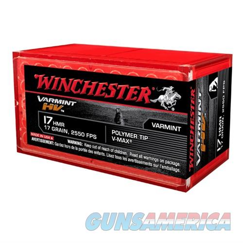Winchester Ammo Varmint HV 17HMR V-Max 17gr 50/bx  Non-Guns > Ammunition