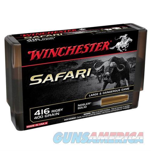 Winchester Safari 416 Rigby 400gr Nosler Solid 20/bx  Non-Guns > Ammunition