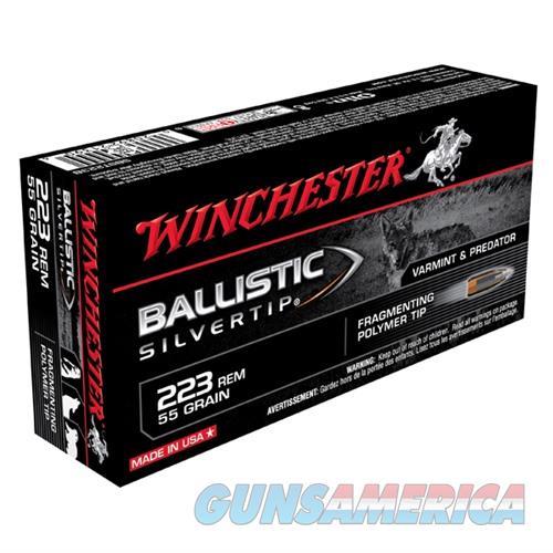 Winchester Ammo 223 Rem 55gr BST Ballistic Silver Tip  Non-Guns > Ammunition