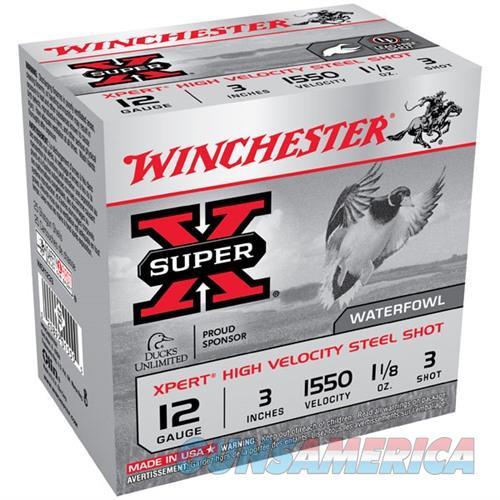 Winchester Xpert HV Steel 12ga 3'' 1-1/8 oz. #3 25/bx  Non-Guns > Ammunition