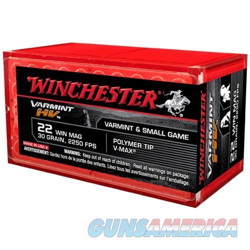 Winchester Ammo Varmint HV 22 Win Mag V-Max 30gr 50/bx  Non-Guns > Ammunition