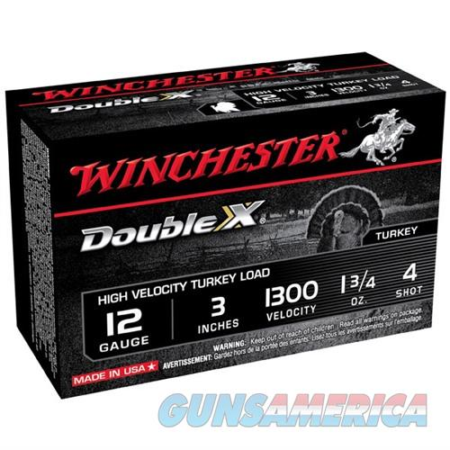 Winchester Double X Turkey 12ga 3'' 1-3/4oz #4 10/bx  Non-Guns > Ammunition
