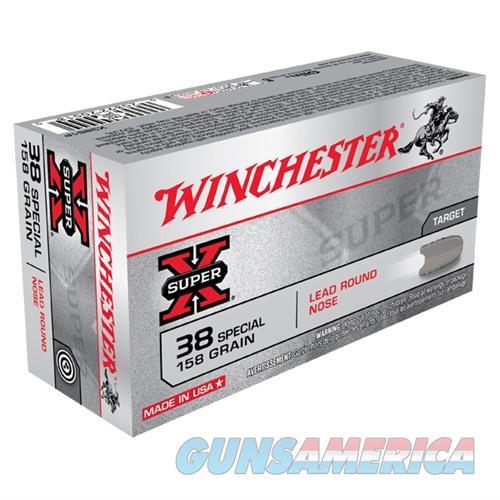 Winchester Super-X 38 SPL 158gr LRN 50/bx  Non-Guns > Ammunition
