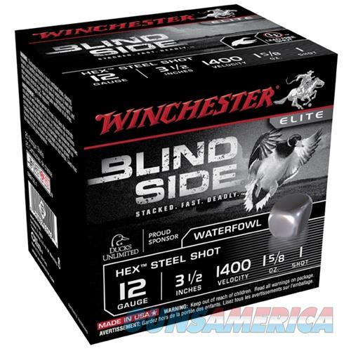 Winchester Ammo Blind Side 12ga 3-1/2'' #1 1-5/8oz 25/bx  Non-Guns > Ammunition