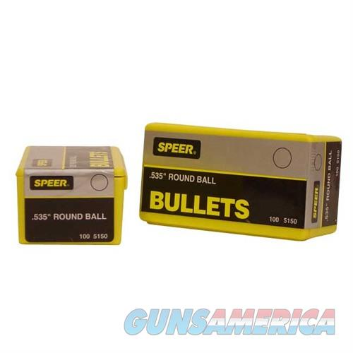 Speer Bullet Muz Rnd Ball .535  Non-Guns > Reloading > Components > Bullets