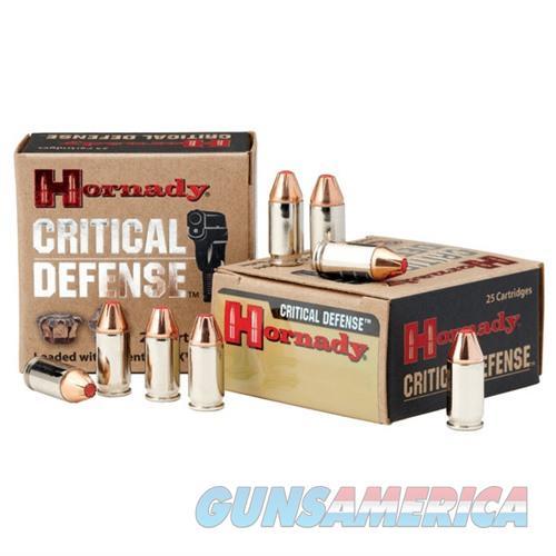 Hornady Critical Defense 380 90gr FTX 25/bx  Non-Guns > Ammunition