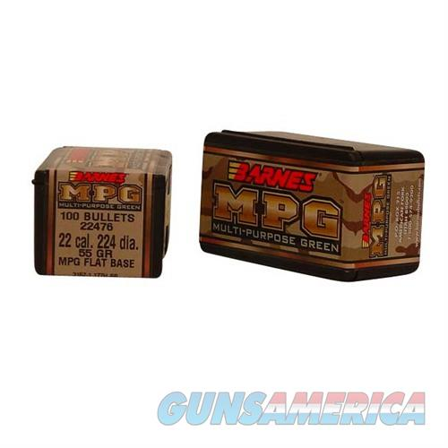 Barnes Bullet 22 Cal .224 55gr MPG  Non-Guns > Reloading > Components > Bullets