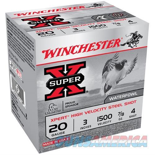 WINCHESTER XPERT HV STEEL 20GAUGE 3' 7/8 OZ. #4 25/BX (25 ROUNDS  Non-Guns > Ammunition