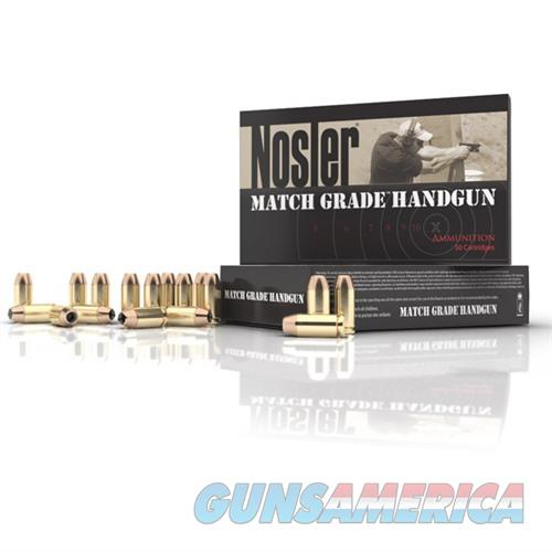 Nosler Match Grade Ammo 9mm 124gr JHP 50/bx  Non-Guns > Ammunition