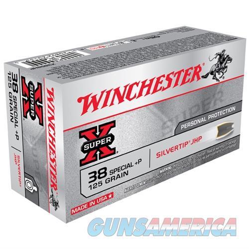 Winchester Silvertip 38 Spl +P 125gr JHP 50/bx  Non-Guns > Ammunition