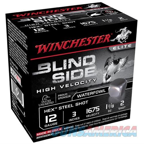 Winchester Blind Side HV 12ga 3'' 1-1/8 oz #2 25/bx  Non-Guns > Ammunition