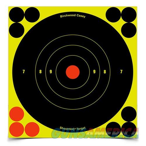Shoot-N-C 6'' Bull's-Eye Target 60 Sheet Pack  Non-Guns > Targets > Clay Throwers