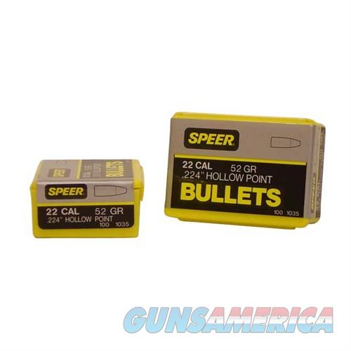 Speer Bullet .22 .224 52GR HP  Non-Guns > Reloading > Components > Bullets