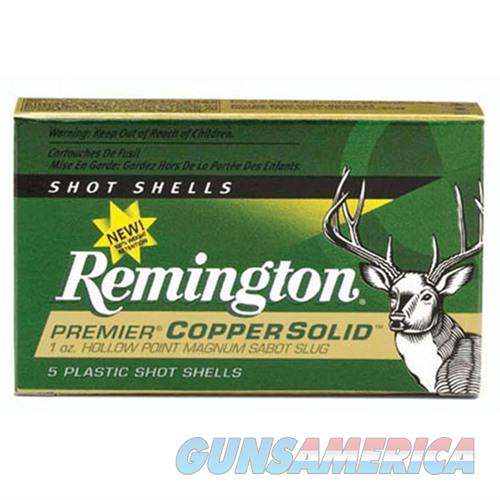 Remington Copper Solid Sabot 12ga 2.75 1oz Slug 5/bx  Non-Guns > Ammunition