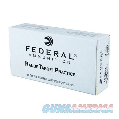 Federal Range Target Practice 40 S&W 180gr FMJ 1000/CS RTP  Non-Guns > Ammunition