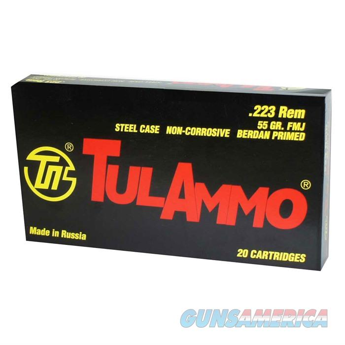 Tulammo .223 Rem Steel Case 55gr FMJ 20/box  Non-Guns > AirSoft > Ammo
