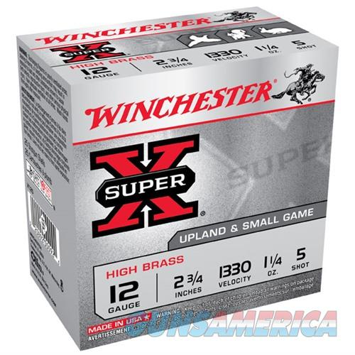 Winchester Super-X High Brass 12ga 2.75'' 1-1/4 oz. #5 25/bx  Non-Guns > Ammunition