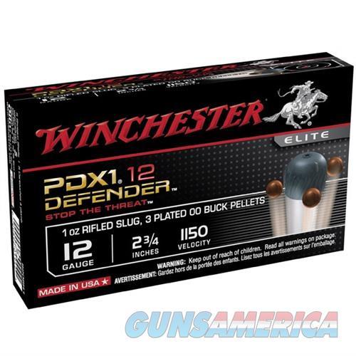 Winchester PDX1 Defender 12ga 2.75'' 1 oz. Slug, 3 #00 Pellets  Non-Guns > Ammunition