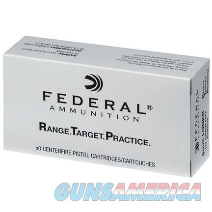Federal Range Target Practice 9MM LUGER 115GR FMJ 50bx  Non-Guns > Ammunition