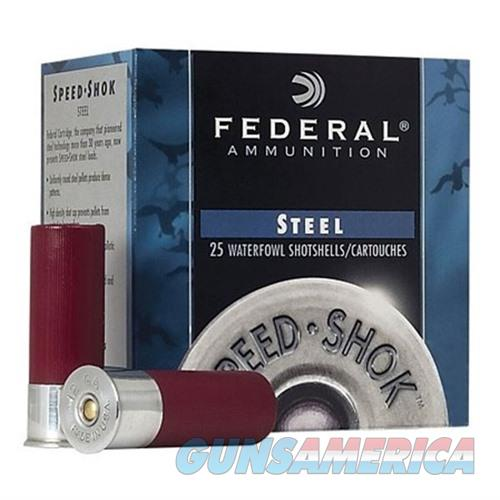 FEDERAL SPEED SHOK HV STEEL 12 GAUGE 3.5' 1-3/8OZ #4 25/BX  Non-Guns > Ammunition
