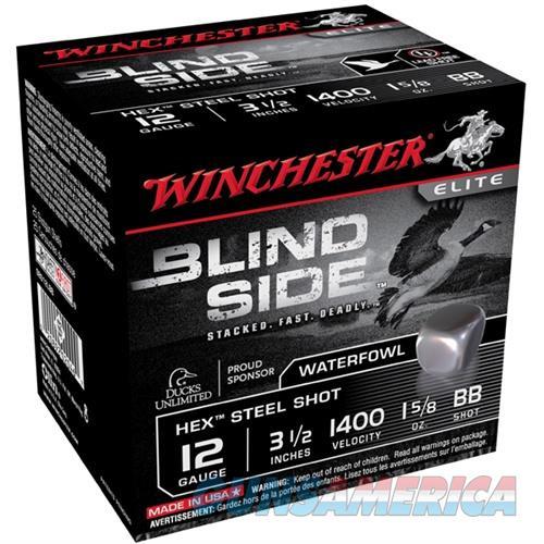 Winchester Ammo Blind Side 12ga 3-1/2'' #BB 1-5/8oz 25/bx  Non-Guns > Ammunition